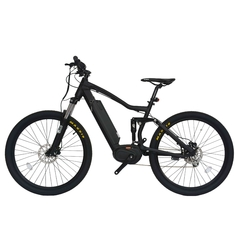 Max Range 50 - 60KM Full Suspension Electric Mountain Bike Wheel Size 27.5 Inch