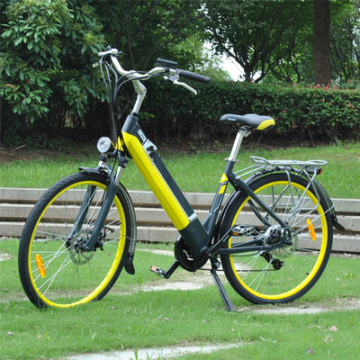No Pollution Womens Electric Bike Max Speed < 30km/H With Lithium - Ion Batteries