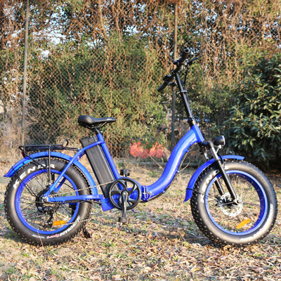 Blue Color Beach Electric Bike , Women'S Electric Bicycle Max Speed 30 - 50 Km/H